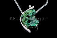 Malachite Moon Pendant